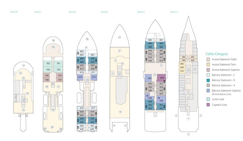 Sylvia Earle Deck Plan