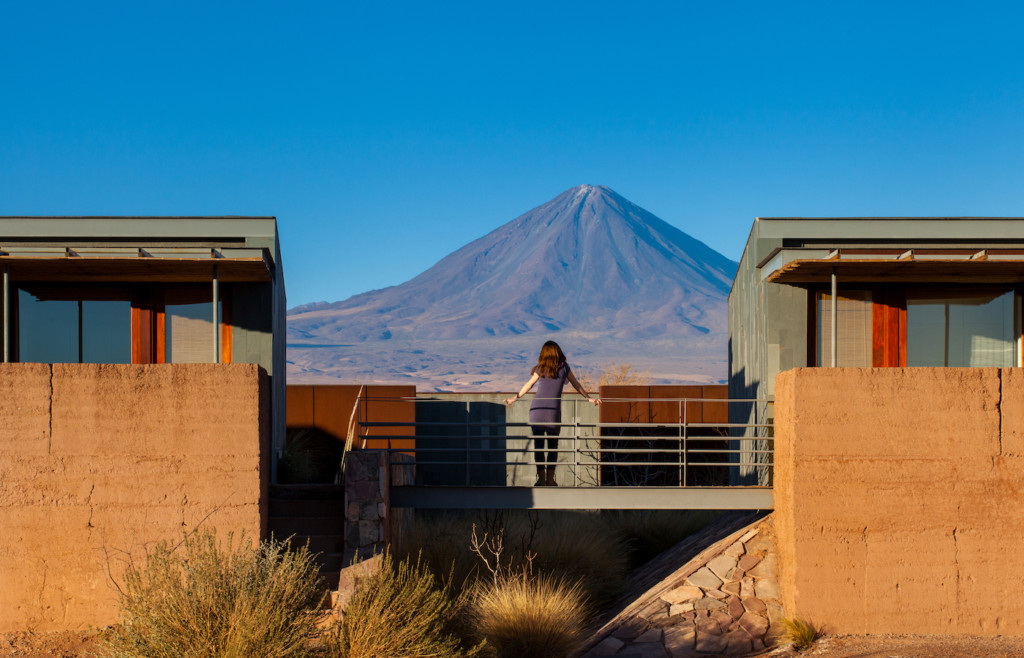Views of Mt. Licancabur from Tierra Atacama - Luxury holidays to Chile