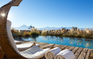 Views from the pool at Tierra Atacama