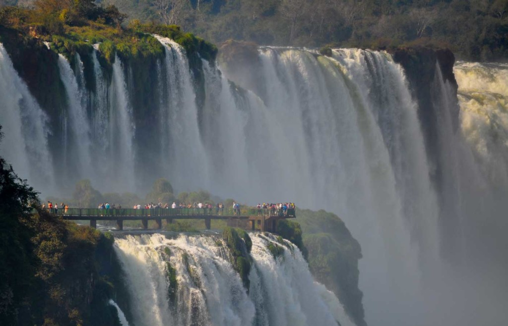 The Argentine side of the beautiful Iguassu Falls - holidays to Argentina