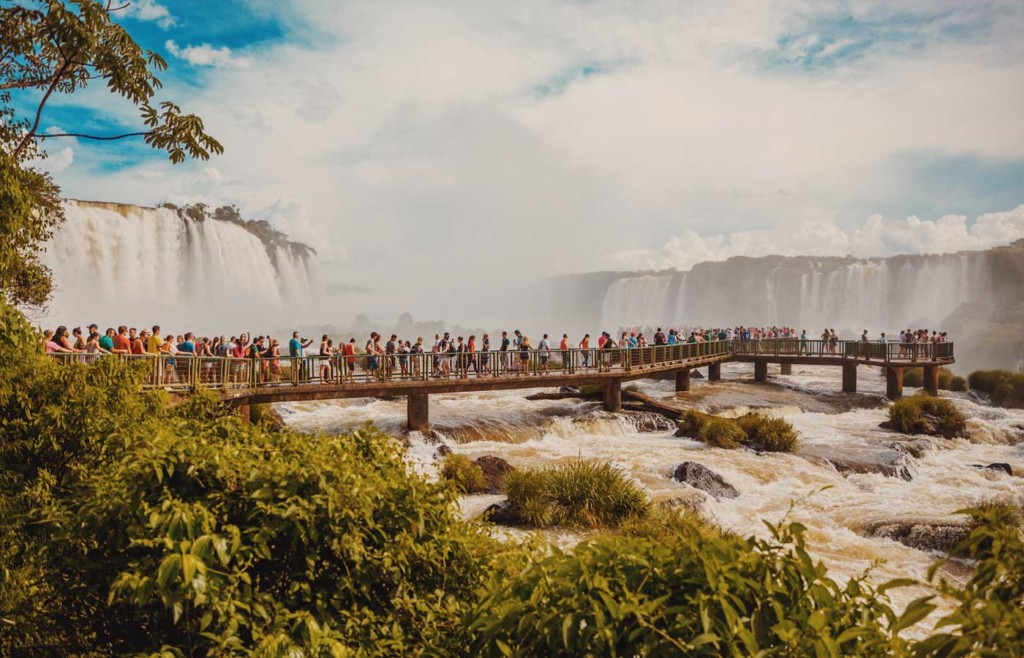 Walkways on Argentine side of Iguassu Falls
