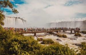Walkways on Argentine side of Iguassu Falls