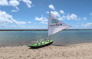 Traditional Jangada boat in northern Brazil - luxury beach holidays to Brazil