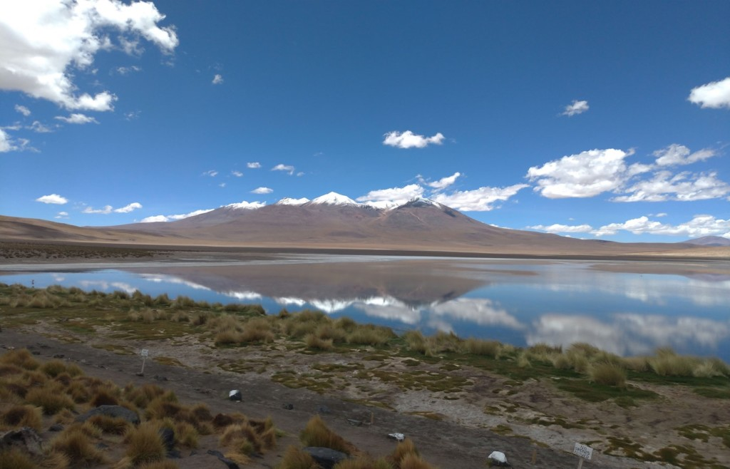 Mountain lagoons on the Bolivian altiplano