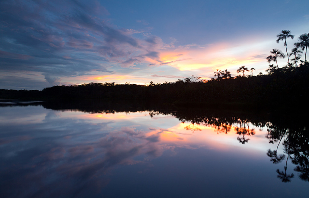 Sunset over the Amazon - Sacha Lodge