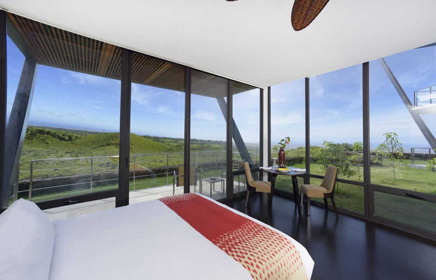 View from the rooms at Pikaia Lodge - Luxury holidays to the Galapagos
