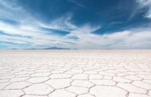 The dry honeycomb effect on the Uyuni Salt Flats - luxury holidays to Bolivia