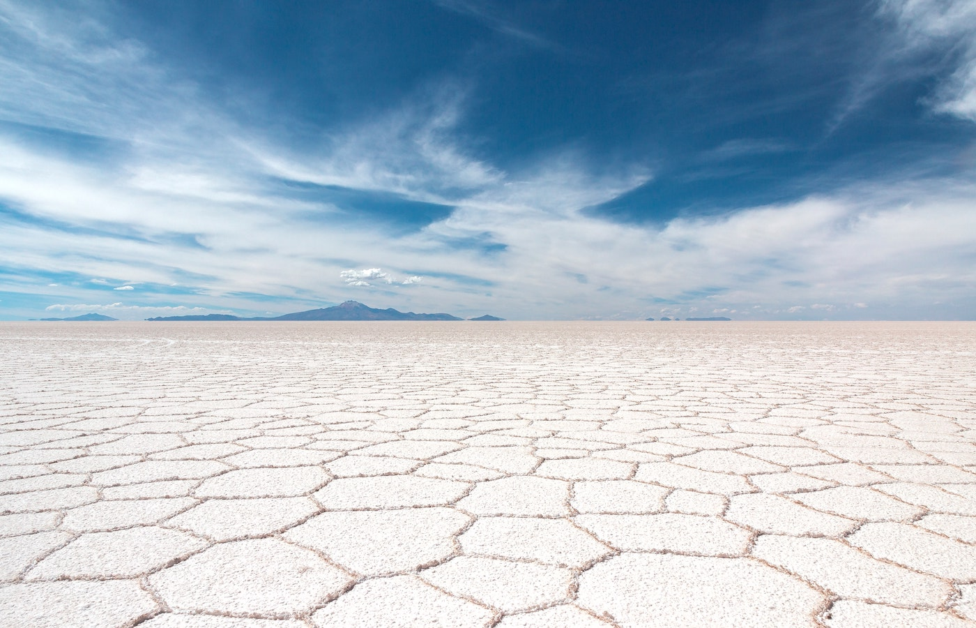 The dry honeycomb effect on the Uyuni Salt Flats - luxury holidays to Bolivia