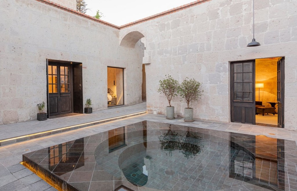 The stylish plunge pool at CIRQA Arequipa - Luxury holidays to Peru